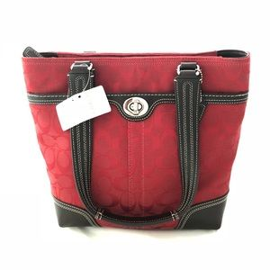 NWT Coach Signature Canvas Tote Handbag